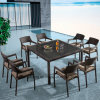 Целый продавая удобный отдых напольный Using сад ротанга обедая установленная мебель с таблицей Chair& (YTA581&YTD020-3)
