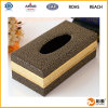 Rectángulo de cuero del tejido de la PU del diseño agradable hecho en China