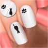 Светотеневой стикер ногтя стикера искусствоа ногтя переноса воды