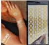 etiqueta engomada temporal impermeable de destello metálica del tatuaje de la carrocería de la manera