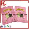 Bolso plano plástico modificado para requisitos particulares del chocolate de la impresión del sellado caliente