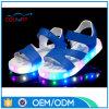 Sandálias bonitas do estilo da forma das sapatas das mulheres do diodo emissor de luz