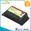 ライトおよびタイマーのコントローラのコントローラ20IStのための12V/24V 20Aの3段階の料金の太陽コントローラ