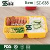 sicherer Nahrungsmittelbehälter der Mikrowellen-3-Compartment mit Kappe Bento Kasten/Mittagessen-Tellersegment mit Deckel