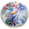 Lo stile fresco del fenicottero ispessisce il tovagliolo di spiaggia rotondo di Microfiber con le nappe