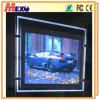 Caixa leve do diodo emissor de luz do frame acrílico frente e verso para lojas de indicador