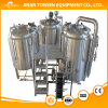 ビール発酵槽およびマッシュ大酒樽が付いている500Lビールビール醸造所装置