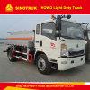 Carro de petrolero diesel de gasolina y aceite ligero de Rhd 5000L del carro de HOWO