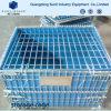 Caja de almacenamiento plegable de alambre de acero Pallet