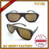 Fx198 Houten Zonnebril Met platte kop