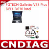 80GB Hard Disk를 가진 Fgtech Galletto V53 Programmer Plus DELL D630 4GB Memory Laptop