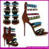 Calzado atractivo ocasional de la marca de los zapatos de las sandalias de la manera de la mujer europea del verano (QW007)
