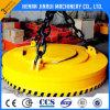 기중기 굴착기에 원형 직사각형 전기 자석 물림쇠를 드는 강철 작은 조각 또는 주괴 또는 공 또는 격판덮개 또는 지위