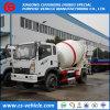 Caminhão pequeno do misturador 6m3 concreto do caminhão do misturador concreto do veículo com rodas 5m3 de Sinotruk Wangpai 4X2 6