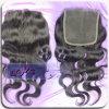 Tamaño 5 * 5 Free Style Parting peruana virginal del pelo del cordón de cierres