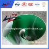 Correia transportadora verde do PVC