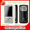 텔레비젼 이동 전화 쿼드 악대 최대 T828 이중 SIM 카드 이중 대역