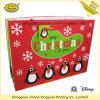 Grand sac supplémentaire de cadeau de Noël avec l'étiquette de coup