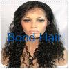 Peluca llena rizada brasileña del cordón del pelo humano de la Virgen de la manera