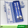 Handle di ceramica Stainless Steel Spoon e Forks Cutlery Set