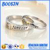 Anel de prata esterlina gravado personalizado para casamento