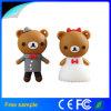 Disco personalizado do USB do urso do presente de casamento da memória Flash do PVC