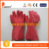 Rotes PVC-raues Chip fertiger Arbeits-Handschuh (DPV106)