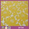 Fabbricato di nylon del merletto della Rosa di cotone del poliestere del jacquard (Z81585)