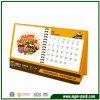 Календар бумаги стола шаржа высокого качества изготовленный на заказ желтый