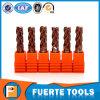 2 3 4 outils de fraisage en métal solide de carbure de cannelures