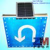 Señal de tráfico accionada solar al aire libre/muestra de camino para la vuelta dejada