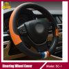 Acessórios super alaranjados da tampa/carro de roda da direção do carro do couro da fibra
