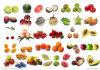 Pó natural da fruta da morango de 100%