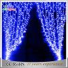 Luz ao ar livre branca da cortina da decoração do Natal do diodo emissor de luz