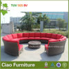 現代Hotel Outdoor Furniture RattanかTableのWicker Round Sofa