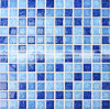 mattonelle di mosaico di ceramica della piscina di miscela blu di 23X23mm (BCH001)