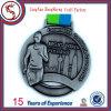 Подгонянное медаль 3D с античной серебряной отделкой