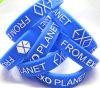 Le bracelet de Debossed personnalisent le bracelet en caoutchouc de silicone