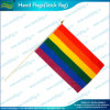 75D Polyester Printed Rainbow Colorful Hand Flag Banner (M-NF10F02003)