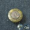 Кнопка латунных джинсыов металла способа щелчковая
