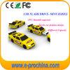 Lecteur flash USB de PVC de forme de véhicule personnalisé par cadeau promotionnel pour l'aperçu gratuit