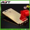 Caja de parachoques del teléfono del espejo de la parte posterior de la PC del metal de aluminio de lujo para Huawei P9