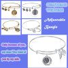 Silver/Gold registrabili Plated Brass Wire Bangle Bracelet con Charms