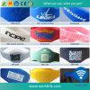 Wristband impermeabile del silicone su ordinazione RFID di codice Ntag213 di Qr di alta qualità