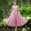2016 جديدة تصميم إمرأة بنات كبيرة رقّاص ثوب لون قرنفل جذّابة عرس ثوب