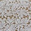 Tela blanca del cordón del bordado para el vestido