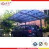 Transparentes Polycarbonat-Zwilling-Wand-Höhlung-Blatt-Autoparkplatz-Kabinendach