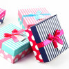 Raya popular/rectángulo de regalo del papel de imprenta de PUNTO con la cinta
