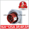 IP67 16A 3p+N+E Industrial Flanged Plugs