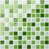 De groene Tegel van de Muur van het Glas van het Kristal